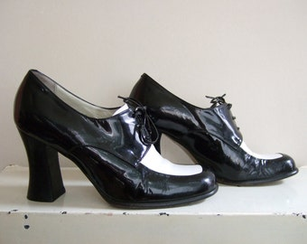 MARE patent leather two-tone women's Derby shoes | size 39