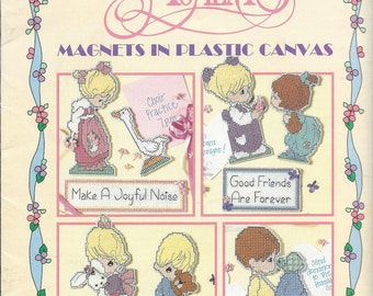 Precious Moments Magnets In Plastic Canvas Pattern Book, Leisure Arts #1707