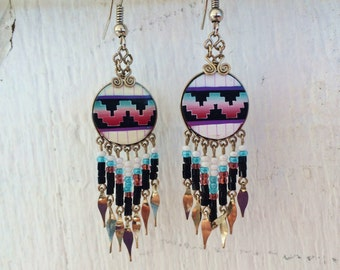 tribal / native - inspired dangle earrings