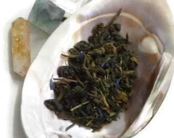 Tea Sample - Nymph -  Green loose leaf tea - apple and blueberry - artisan small batch tea