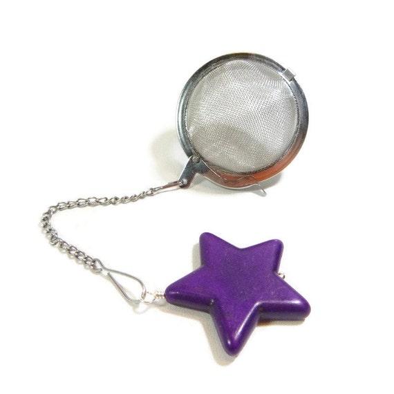 tea infuser with purple charm