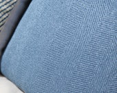 Blue Pillow - Herringbone - Indigo Blue Pillow Cover - Solid Blue Pillow Cover - Blue Cushion