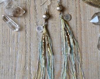 Cosmic Eye earrings, bohemian silver evil eye earrings, boho jewelry, ethnic tribal jewelry, eye jewelry