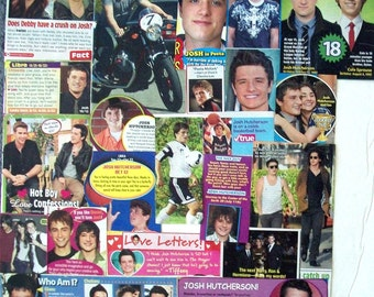 JOSH HUTCHERSON ~ The Hunger Games, Bridge To Terabithia, Journey to the Center of Earth, Peeta Mellark ~ Color Clippings for Scrapbooking