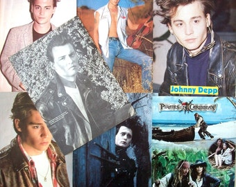 JOHNNY DEPP ~ 21 Jump Street, Edward Scissorhands, Sweeney Todd, Jack Sparrow - Color and B&W Pin-Ups from 1987-1990