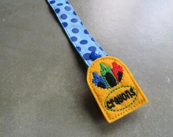 Pacifier Leash Paci Clip - Crayon Box Feltie Metal Pacifier Clip