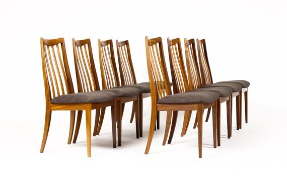 Danish Modern Mid Century Teak Dining Chairs By