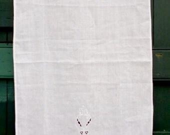 White handmade cutwork curtain - Cottage chic style - Window treatment - Window decoration - Romantic curtain - Bedroom decor - 0000843