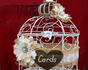 Wedding Birdcage - Card Holder - Card Box - Decorative Cage, Birthday Card Holder - Anniversary Card Holder - Gift Table - Wedding Decor