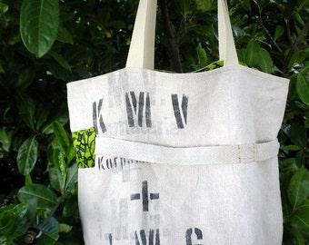 Big bag, bag former army canvas, shopping bag, linen bag