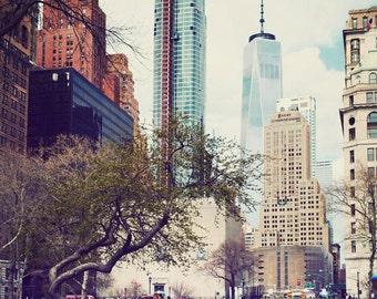 New York art, New York photography, Manhattan, office decor, NYC artwork, fine art photography, New York City - Manhattan Green