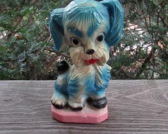 carnival chalk carnival chalkware blue dog