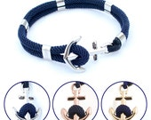 Anchor bracelet - Nautical bracelet - New Haven in your choice of metal - WATERPROOF