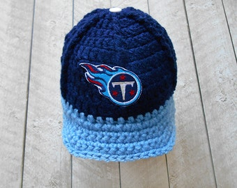 Baby Boy Hat Beanie, Baby Boy Crochet Hat, Tennessee Titans Newborn knitted baby hat, Baby Boy Beanie Hat, Baseball Cap Hat Infant Sport hat