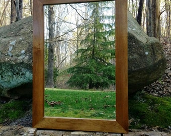 Wood Framed Wall Mirrors wood mirror | etsy