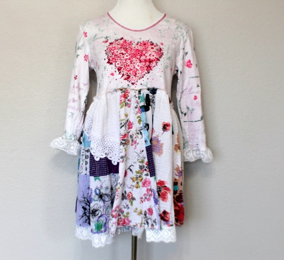 Ragdoll Dress Upcycled Women's Clothing / Patchwork Funky