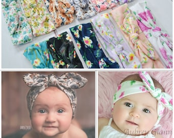 Pick any 5 Knotted Head wrap, Boho Headband, Baby turban headband, Newborn headband, Infant headband, Baby turban, Headwrap, knit headband