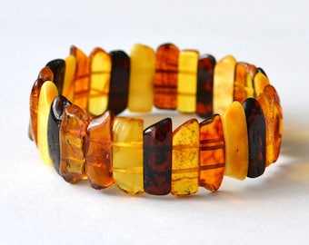 Natural Amber Bracelet / Baltic Amber Jewelry / Pure Amber Bracelet