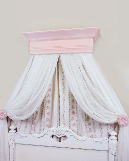 Princess Bed Canopy Girl Crown Pelmet Upholstered Awning: Crib Crown Canopy Bed Crown Canopy Nursery Decor Girls