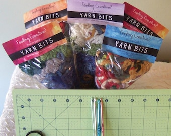 DIY Party Favor / Discount for Multiples / Yarn Crafts / Yarn Grab Bag / Pinterest Party Idea / Stocking Stuffer / Craft Kit / Craft Supply