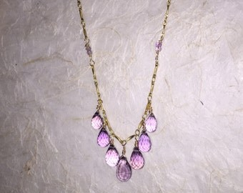 Samira Pink Amethyst Necklace