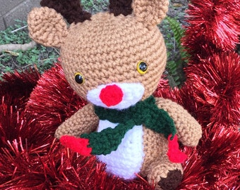 Crocheted Rudolph the Red Nosed Reindeer