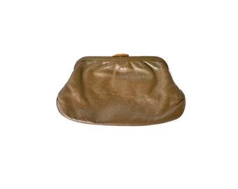 Clutch Purse Brown Clutch Brown Clutch Bag Brown Purse Brown Handbag 80s Clutch Purse