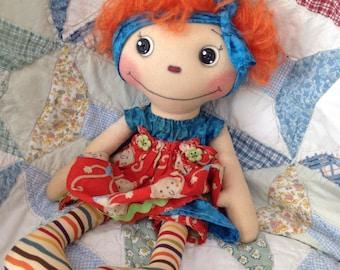 Primitive raggedy Ann doll, Eliza