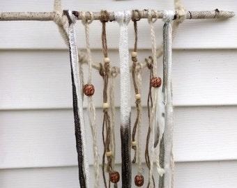 Rustic White Birch Branch Dreamcatcher