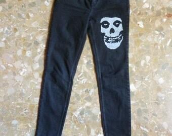 Mistfits Custom Punk Jeans Studded Handmade Handpainted