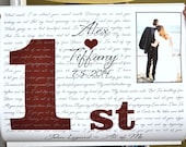 1st Anniversary Gift: Personalized Any Year Custom Lyric First Dance Wedding Song Friend Brother Sister Parents Unique Photo Art Paper Print