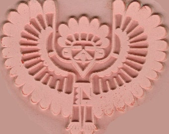 Native American Thunderbird Design Stamp for Polymer, PMC, Ceramic Clay, Textiles, Scrapbooking - Southwest Thunderbird - Thunderbird  Stamp