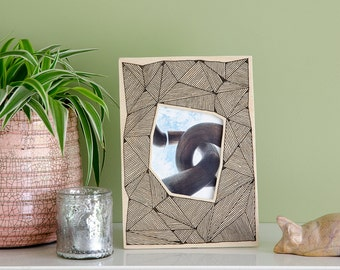 "Picture frame ""Triangles"" - screen printed wooden frame"