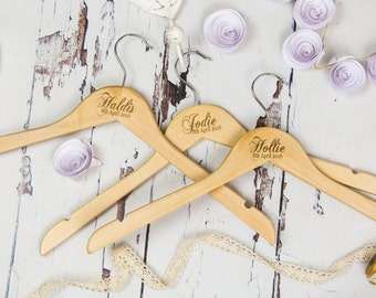 Wedding Hangers - Brides Hanger - Wedding Accessory - Wedding Day - Bridal Hanger - Clothes Hangers - Wedding Dress - Bridal Party Gift