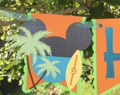 Mickey Mouse Luau Banner