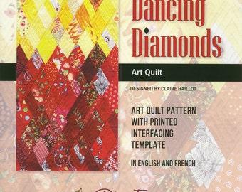 Dancing Diamonds Art Quilt Pattern by Plum Easy Patterns (PEP-124)