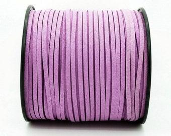 Violet Vegan Faux Suede Flat Cord 3mm