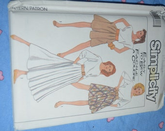 Simplicity 8504 Misses Skirt in two lengths and Culottes Sewing Pattern - UNCUT - Size 12