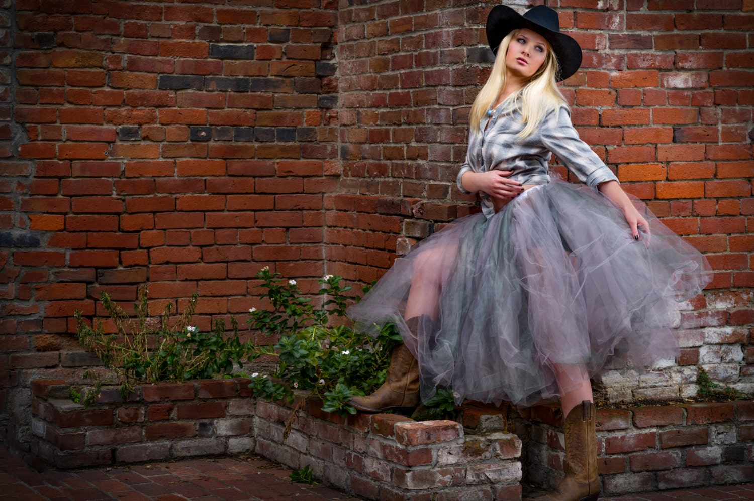 Adult tutu tea length tulle skirt rustic cowgirl skirt sewn zoom ombrellifo Images