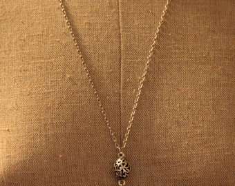 "Royal Crown Antique Charm Necklace - With Silver 24"" Chain"