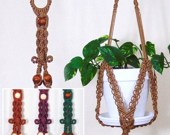 Hanging Plant Holder, Macrame Plant Hanger, Large Outdoor Planter, Indoor  Pot Holder,