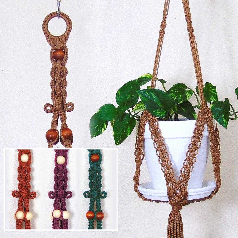 hanging plant holder macrame plant hanger large outdoor. Black Bedroom Furniture Sets. Home Design Ideas