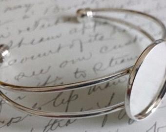 1 in. silver custom photo bracelet