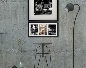 Paris Photography, Paris bedroom decor, black and white photography, set of 4 prints, Sacré coeur, wall decor Personalized home decor