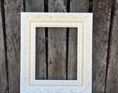 Ornate Picture Frame, 8x10, 11x14, White & Gold, Wedding Frame, Chunky Frame,Glass and Backings Included (Los Angeles)