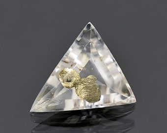 Fascinating Quartz with Pyrite Inclusions from Brazil 26.00 cts.