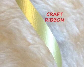 90 YARDS, 1960s Vintage, Apple YELLOW 5/16 Inch, Satin Craft Ribbon, Water Repellent Acetate, C140