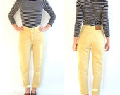Straw Colored Light-Yellow Limited Jeans Vintage // High Waist // Soft Denim (Size 4/5/6)