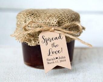 Spread the Love Tag - Wedding Favor Tags - Jam Wedding Favors - Spread Wedding Favors - Marmalade Favors - Honey Wedding Favors - SMALL