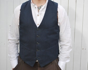 Unique Navy/ Blue Striped Waistcoat